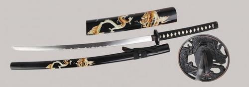RV007 Schwarz/gold Drachen Schwert