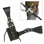 ST007 Leren draagriem voor katana, zwaard of rapier