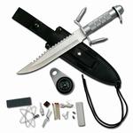 M013 Zilveren survival mes