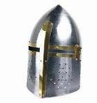 OV005 Kruisvaarders ridder helm van carbon staal 13e eeuws